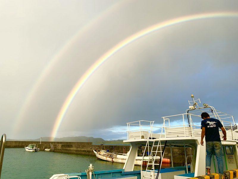 昨日の虹は圧巻でした!