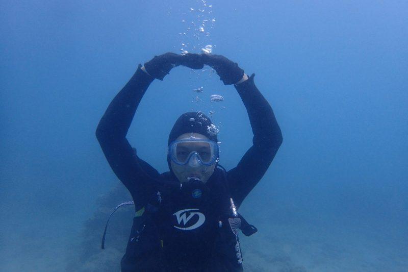 今日もラッキーな体験ダイビング!