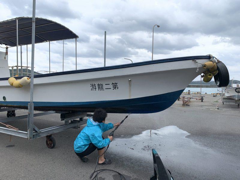 ダイビング船メンテナンス!!最後の1艘!!