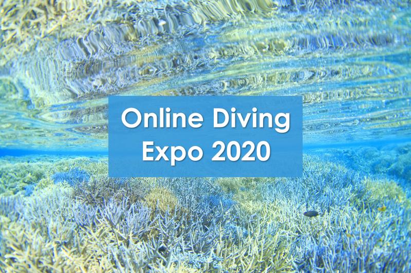 1月15日~17日開催の「オンラインダイビングエクスポ」に参加致します~♪